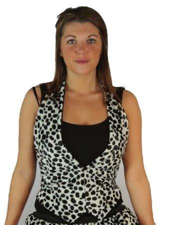 Sexy Dalmatiner Fell Tutu Cruella Teufel Deville Dalmatiner Fancy Kleid Sets Gr. Waste,Normen34-40, schwarz / (Cruella Für Kostüme Erwachsene Deville)