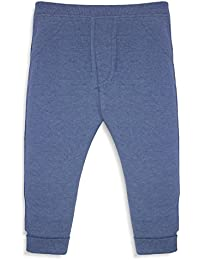 Minicult Cotton Baby Jogger Pants Unisex with Rib (Light Blue)