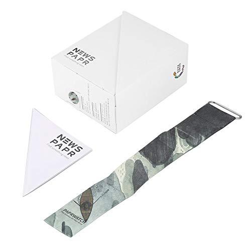 Lovelysunshiny Personalisierte Papieruhr Papierband Magnetverschluss Buckle LED Digitaluhr