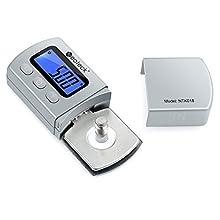 Neoteck - Testeur digital de 0,01 g pour bras de platine phono - Rétro-éclairage LCD Argenté
