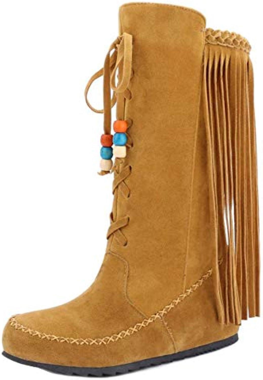 6b4297c085c6 Melady Classic Fringe Half Women Boots Pull On B07G5BBS6S Parent Parent  Parent ceaa8e