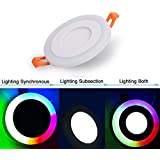 CITRA 6W LED Round Panel Light Ceiling/POP Down Indoor Light LED With 3D Effect Lighting (Double Color)
