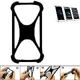K-S-Trade Handyhülle für Homtom HT10 Schutz Hülle Silikon Bumper Cover Case Silikoncase TPU Softcase Schutzhülle Smartphone Stoßschutz, schwarz (1x)