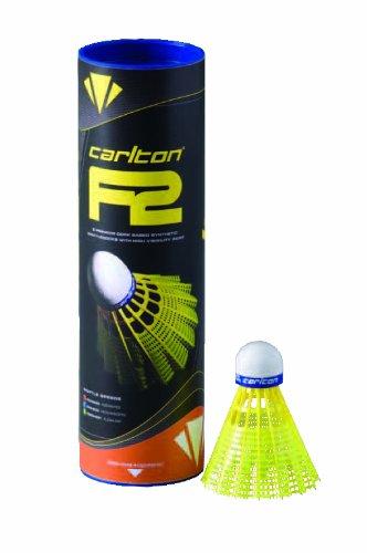 Carlton F2 Badminton-Shuttle, mittlere Geschwindigkeit, gelb, Medium -