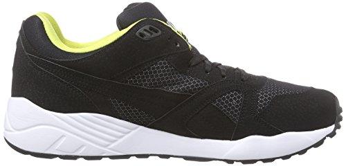 Puma XS500 Compression Herren Sneakers Schwarz (black-white-blazing yellow 08)