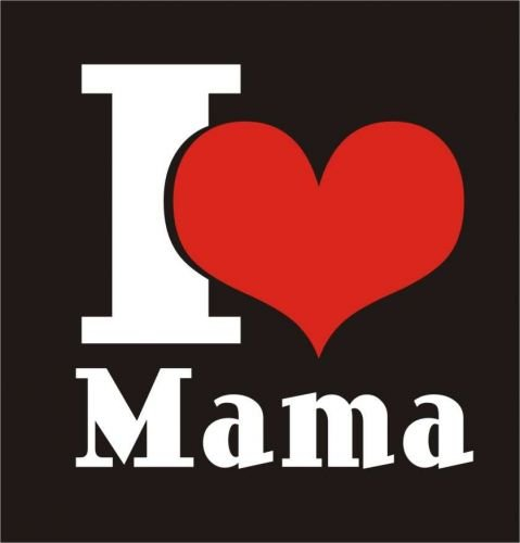 Baby / Kinder T-Shirt langarm I LOVE MAMA / Größe 60 - 152 in 6 Farben Rosa