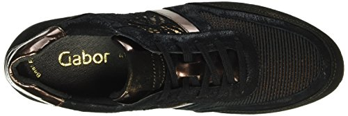 Gabor Sport, Derby Femme Multicolore (Bronce/Schw./Rame 44)