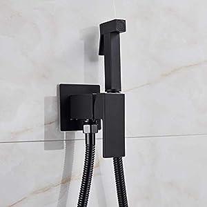 Grifos de bidé Negro/Cromo/Cepillado Grifo de la ducha del baño Bidé Pulverizador del inodoro Lavador del inodoro…