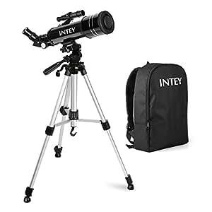 INTEY Télescope Astronomique, Télescope Enfants, Lentille Haute Définition, Portable Télescope avec Trépied (k6 mm, k25 mm) -Cadeau D'anniversaire