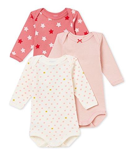 Petit Bateau Baby-Mädchen Formender Body ML_4370200, 3er Pack, Mehrfarbig (Variante 1 00), 92 (Herstellergröße: 24M/86cm)