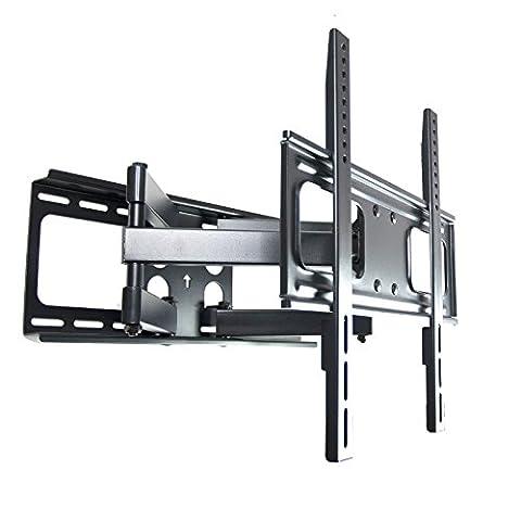 Curved TV Wandhalterung 111N, vollbeweglich mit doppelarm, schwenkbar neigbar, Plasma LCD LED Wandhalter für Fernseher mit 81 - 140cm (32 - 55 Zoll), VESA: 200 x 200, 400 x 200, 300 x 300, 400 x