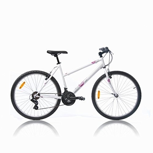 Btwin Rockrider-50 Mountain Bike, Women's Large (White)