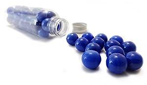 MaRécréation-30Bolas Perla China de Cristal coleccionables, SKU-perlebleu, Azul, 16mm