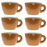 Set 6 Tazzine Da Caffè Colorate, Capienza 8.5 Cl, Set Di Servizio Da Tavola In Porcellana Con Sei Tazzine, Disponibile In Colori Assortiti, arancione 2