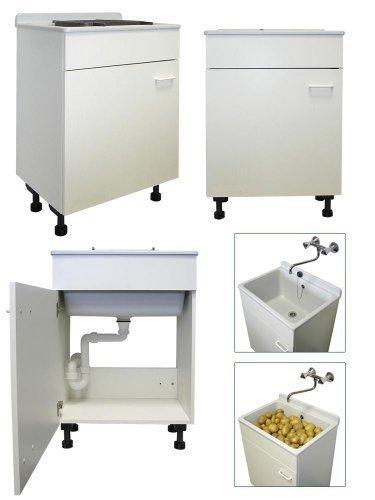 Preisvergleich Produktbild abusanitair, Waschbox, weiß