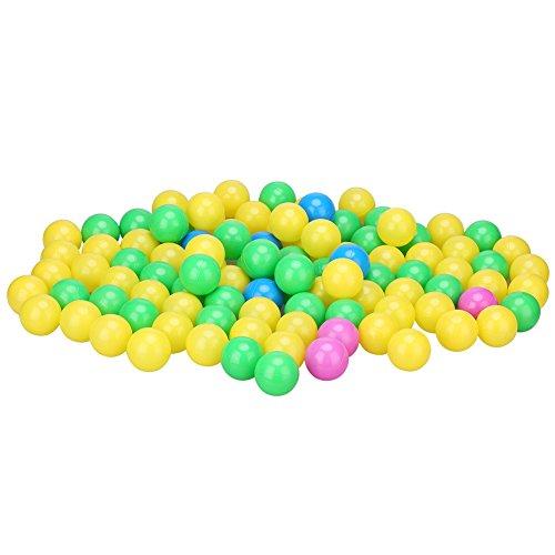 4cm Weiche Plastik Bunte Kinder scherzt sichere Ozean-Kugeln Baby-Gruben-Schwimmen-Spielwaren, 100 / set (Tier-ball-grube)