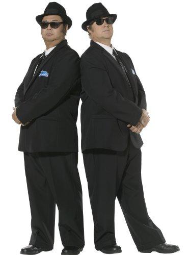 Smiffys, Herren Blues Brothers Kostüm, Anzugjacke und Hose, Größe: M, (Brothers Blues Halloween Kostüme)