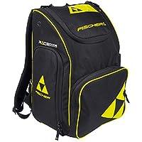 Fischer Unisex–Adultos Backpack Race 55L, Negro/Amarillo, 57x 37x 31cm