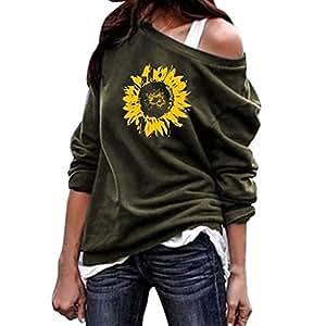 Dame Oberteile,XXYsm Sommer Blusen Pullover Tops Fledermaus/ärmel T-Shirt Frauen Blumen Drucken Hemd Lose Bluse L/ässig M, Wei/ß