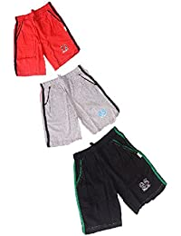 Krystle Boys Cotton Shorts For kids Pack Of 3