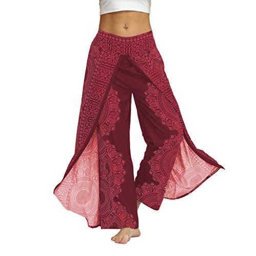 Hosen Herren Damen Sommer Sommer Lose Yoga Hosen Baggy Boho Jumpsuit Hosen pink M