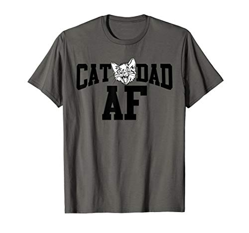 b8e7e4f2 Mens Cat Dad AF Funny Fathers Day Anniversary Gift for Men T-Shirt
