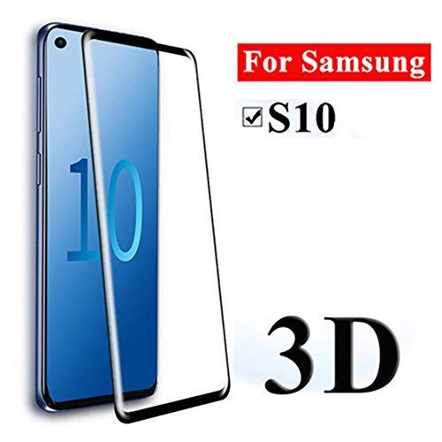 3D Glas für Samsung Galaxy S10 Displayschutzfolie Panzerglas 2er-Pack für Galaxy S10 Gebogene Abdeckung Schutzfolie (unterstützt Fingerabdruck-Entriegelung) - Samsung 2er-pack