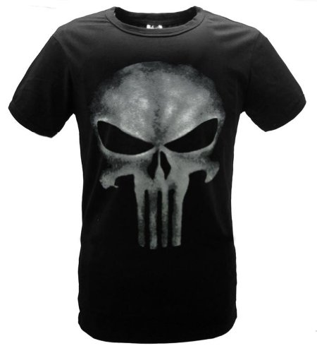 Fuman The Punisher Skull Logo Herren Kult T-Shirt Schwarz Sleeveles XL (Logo T-shirt Skull)
