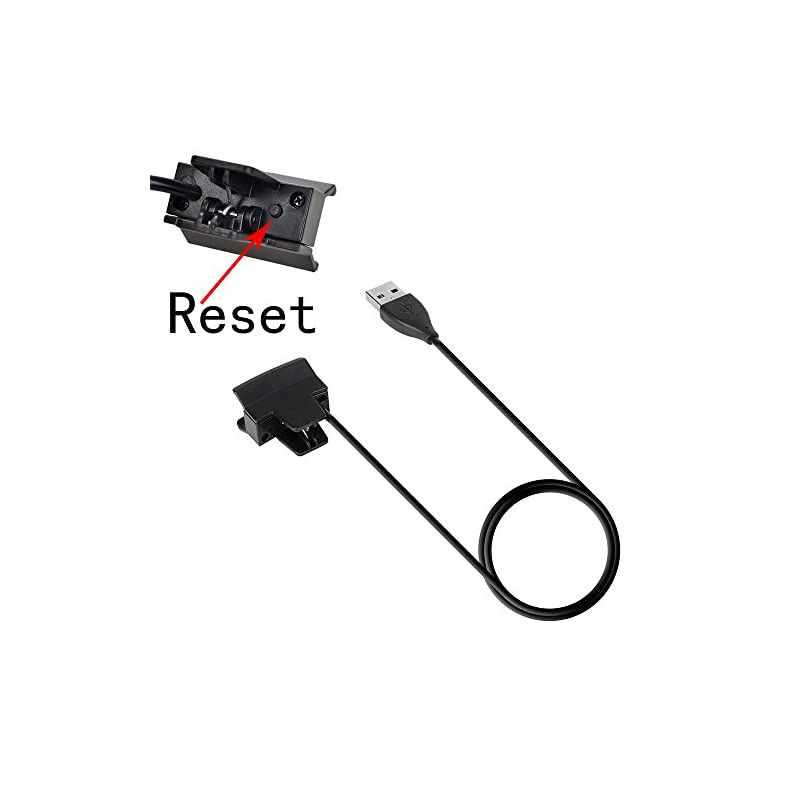 TUSITA [2-PACK] Charger With Reset Button for Fitbit Alta/Fitbit Ace – USB Charging Cable Clip Cradle 100cm – Smart…