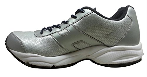 Reebok Men's Tech Speed Silver Navy And White Mesh Running Shoes - 9 UK Size