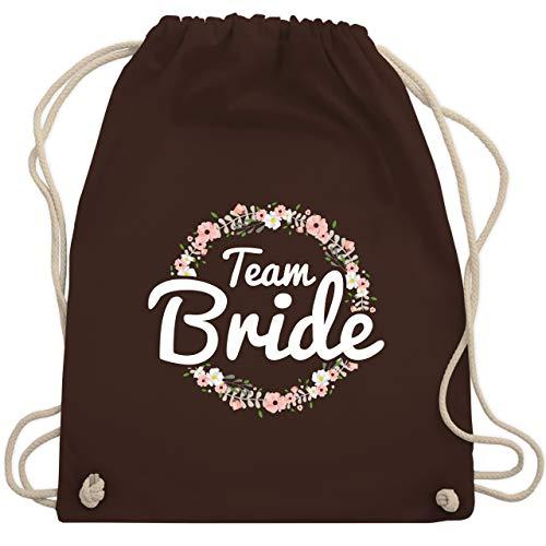JGA Junggesellinnenabschied - Team Bride Blumenkranz - Unisize - Braun - WM110 - Turnbeutel & Gym Bag