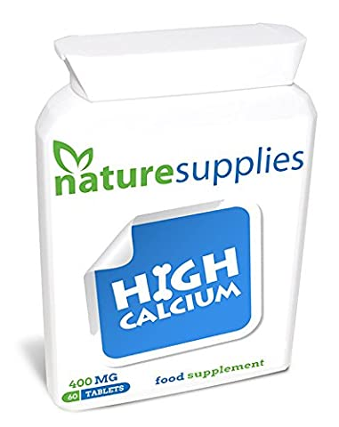 SALE £4.99 Calcium Tablets From Naturesupplies 60 x 400mg Per Tub | Healthy Bones Teeth | Thousands Of Happy