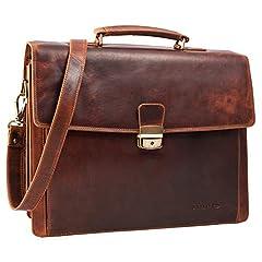 Idea Regalo - STILORD 'Noel' Portadocumenti uomo pelle vintage grande borsa da lavoro classica business ventiquattrore da ufficio borsa a tracolla borsa porta PC 13,3 pollici, Colore:kara - cognac