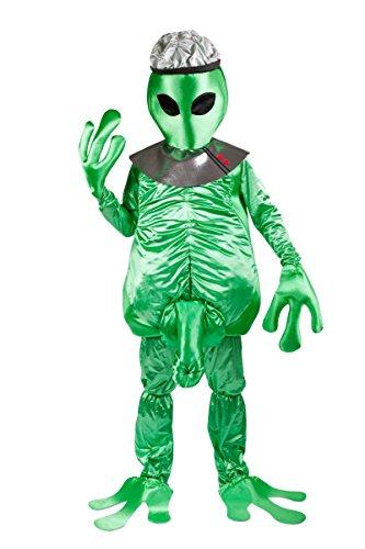D's Kostüm Nine (Freizügiges Alien Außerirdischer Kostüm für Männer - Lustiges Alienkostüm für Mottoparty und)