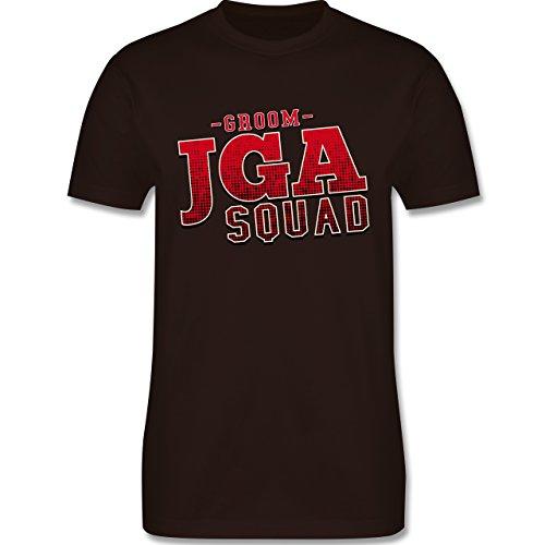 JGA Junggesellenabschied - JGA Squad Groom - Herren Premium T-Shirt Braun