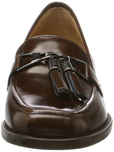 Marc Opolo Damen Mid Heel Mocassino 70714142202111 Slipper Braun (cognac)