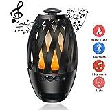 Wireless Bluetooth Lautsprecher mit LED Flamme Licht Tragbare Musik Spielen Camping Party Abendessen Schlafzimmer Nachttischlampe,2
