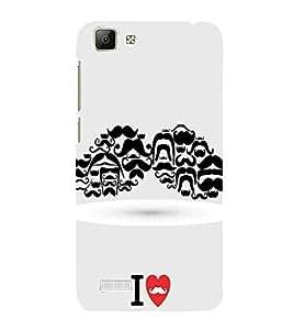 For vivo V1 i love muchh ( i love muchh, heart, muchh, many muchh ) Printed Designer Back Case Cover By FashionCops