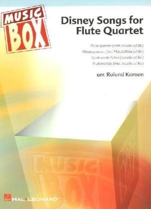 Disney Songs for Flute Quartet, Partitur u. Einzelstimmen