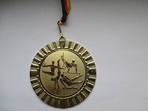 Turnen Kids 20 x Medaillen 50mm Emblem 25mm mit Deutschland-Bändern Pokal Pokale Pokale & Preise