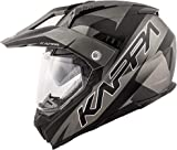 Kappa KV30 ENDURO FLASH Casco integrale in materiale termoplastico (titanio opaco/nero, 58)