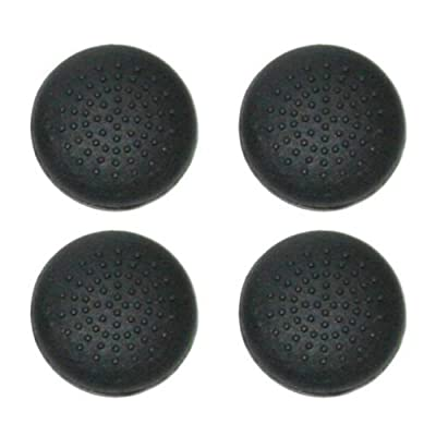 No1GadgetStore TPU Protective Analogue Thumb Grip Stick Caps for Sony PS4 Controllers - Black (Pack of 4) by No1GadgetStore