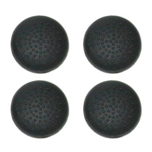 No1GadgetStore TPU Protective Analogue Thumb Grip Stick Caps for Sony PS4 Controllers - Black (Pack of 4)