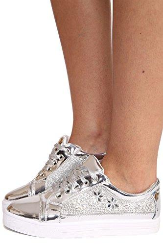 SheLikes , Damen Sneaker Silber
