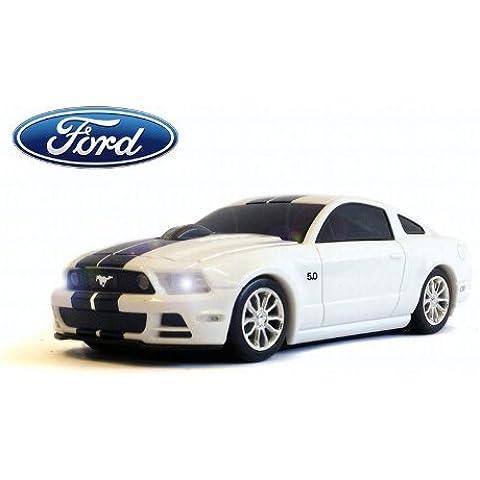 Ford Mustang GT Wireless Auto-Mouse (Bianco/Nero) Senza fili ottico
