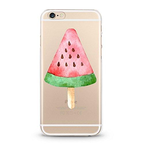 Panelize iPhone 6 Fruit Hülle Schutzhülle Handyhülle Hard Case Cover Kratzfest Rutschfest Durchsichtig Klar (Ananas bunt) Wassermelone