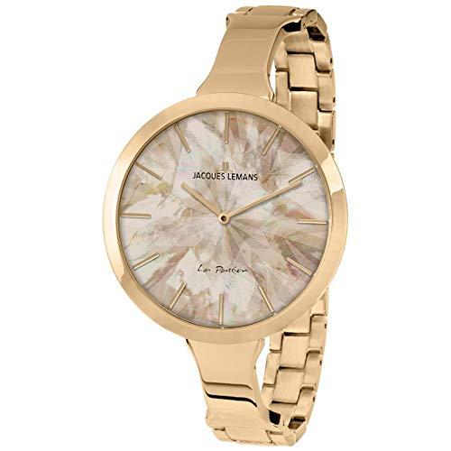 Jacques Lemans Women's La Passion 44mm IP Steel Bracelet Quartz Watch 1-2032H