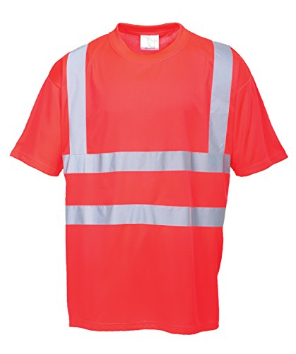 Portwest Hi-Vis Red T-Shirt Large