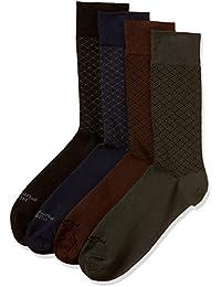 Hush Puppies Men's Calf Socks (Pack of 4)
