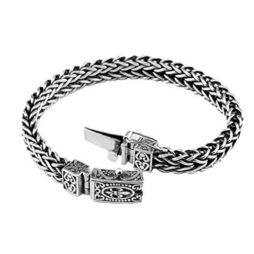 Yarmy 100% 925 Silber Armband Anker Breite 8mm Classic Drahtseil Link Kette S925 Thai Silber Armbänder für Frauen Männer Schmuck Liebe Leute